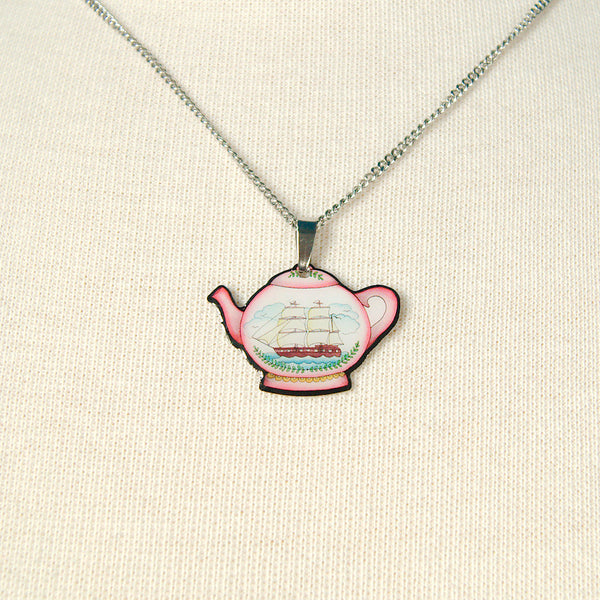 Jubly-Umph Teapot Mini Pendant Necklace for sale at Cats Like Us - 2