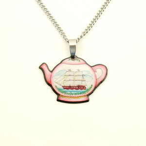 Jubly-Umph Teapot Mini Pendant Necklace for sale at Cats Like Us - 1