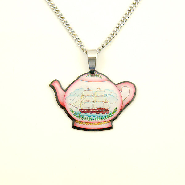 Teapot Mini Pendant Necklace