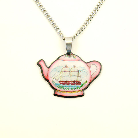Teapot Mini Pendant Necklace - Cats Like Us