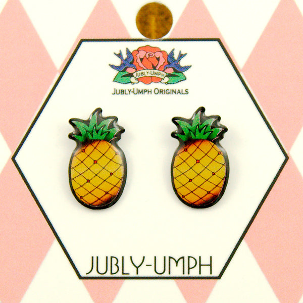 Jubly-Umph Tropical Pineapple Stud Earring for sale at Cats Like Us - 3