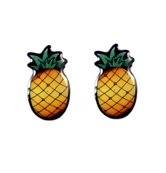 Jubly-Umph Tropical Pineapple Stud Earring for sale at Cats Like Us - 1