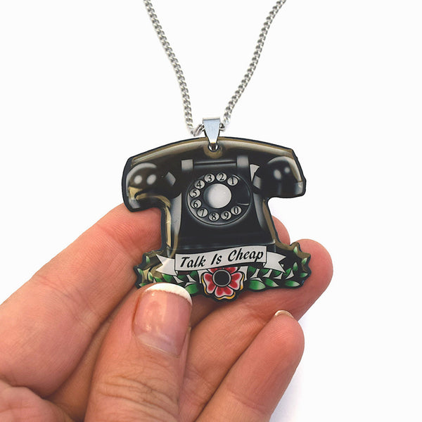 Vintage Telephone Necklace - Cats Like Us