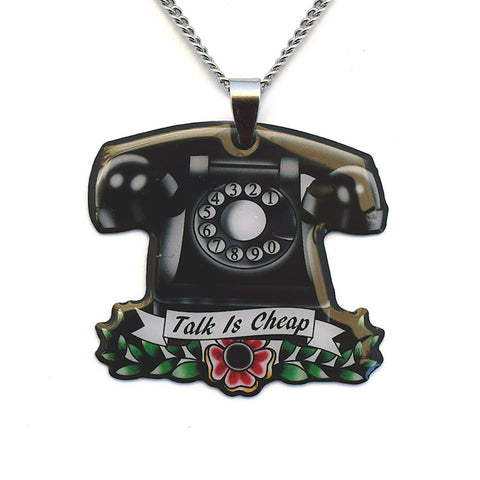 Jubly-Umph Vintage Telephone Necklace for sale at Cats Like Us - 1