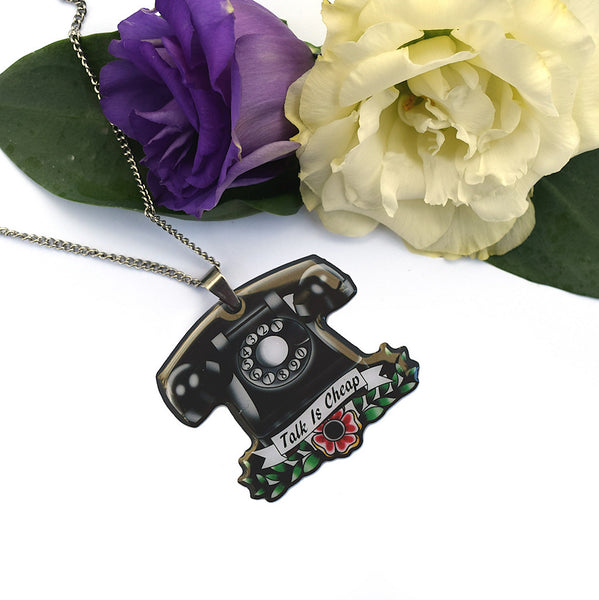 Jubly-Umph Vintage Telephone Necklace for sale at Cats Like Us - 4
