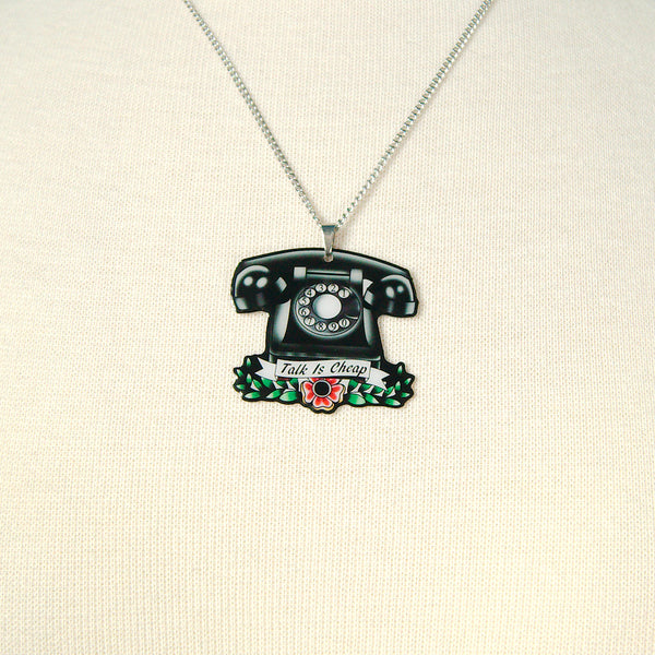 Jubly-Umph Vintage Telephone Necklace for sale at Cats Like Us - 6