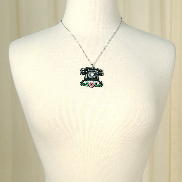 Jubly-Umph Vintage Telephone Necklace for sale at Cats Like Us - 7
