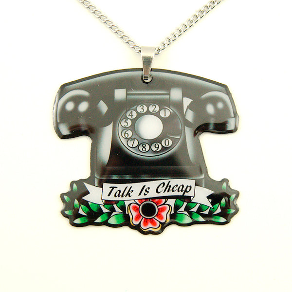 Jubly-Umph Vintage Telephone Necklace for sale at Cats Like Us - 5