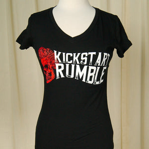 Ladies Kick Start Rumble SkullT by Kick Start Rumble : Cats Like Us