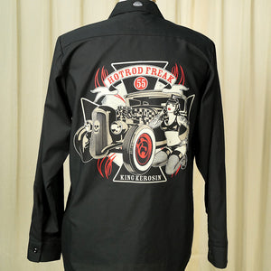 Hot Rod Freak LS Work Shirt by King Kerosin : Cats Like Us