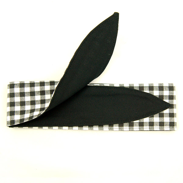 B & W Gingham Hair Tie by Krampus Cuties - Cats Like Us