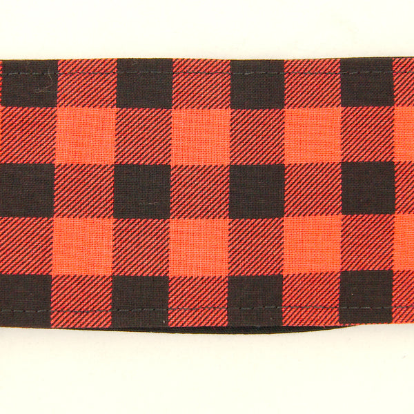 Black & Red Plaid Hair Tie
