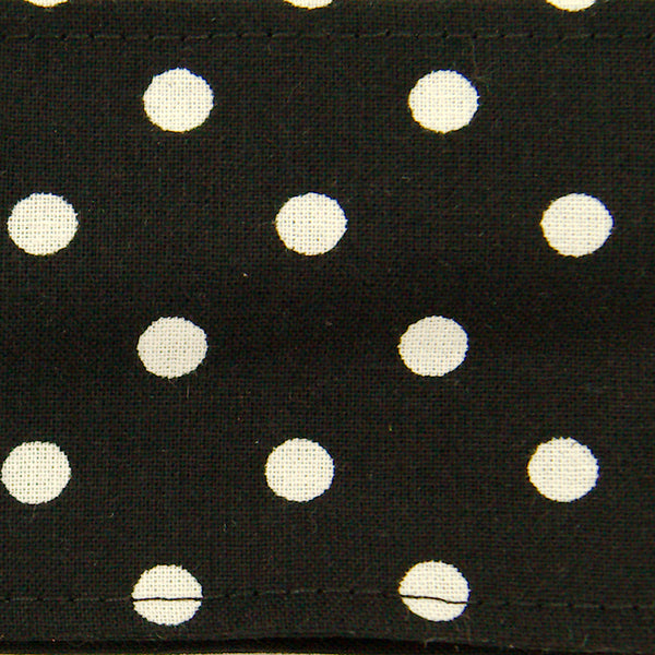 Black & White Polka Hair Tie by Krampus Cuties - Cats Like Us