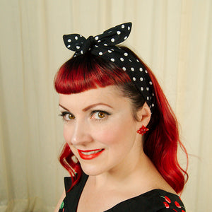 Black & White Polka Hair Tie by Krampus Cuties : Cats Like Us