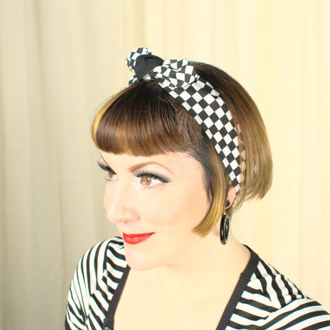 Checkerboard Hair Tie