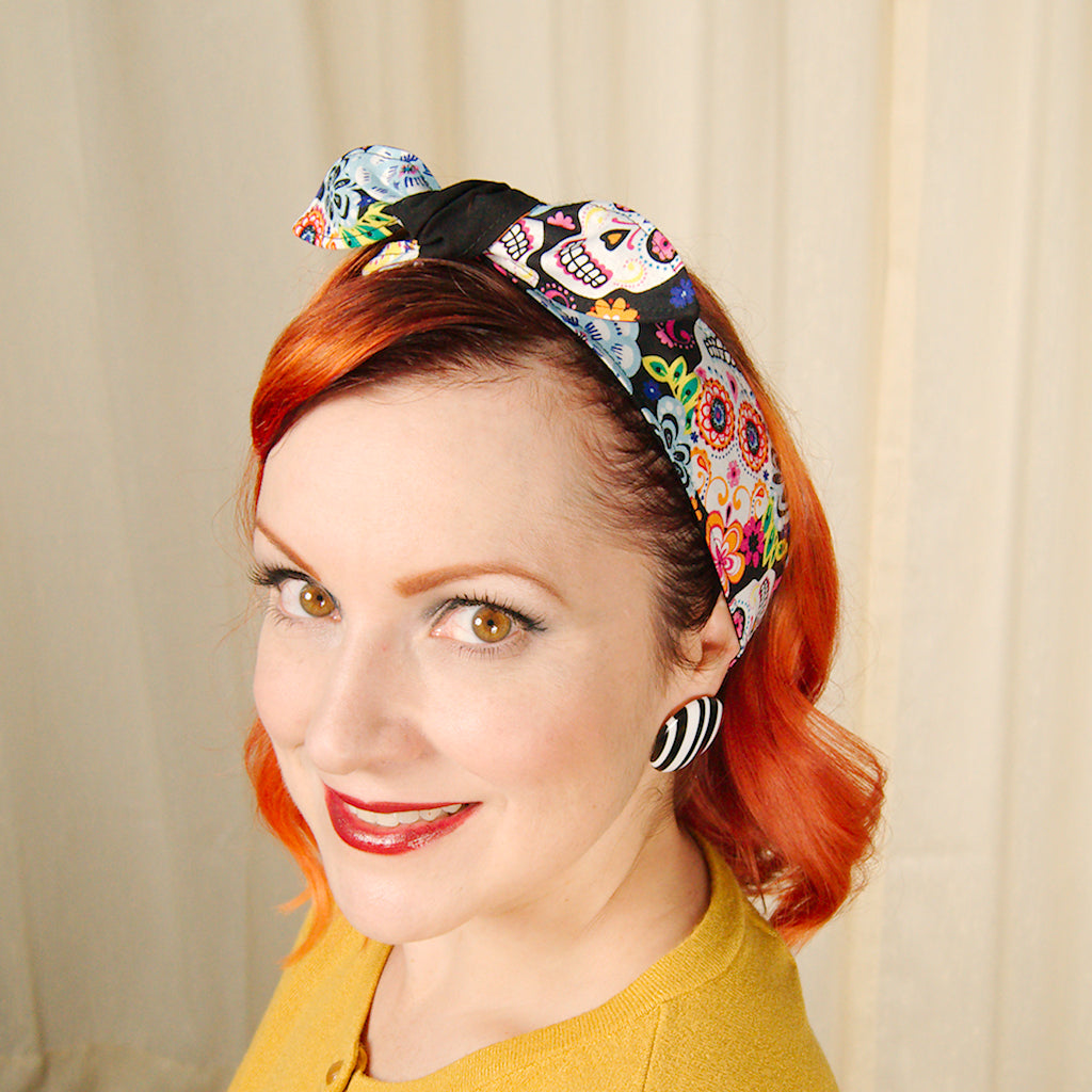 Colorful Sugar Skulls Hair Tie by Krampus Cuties : Cats Like Us