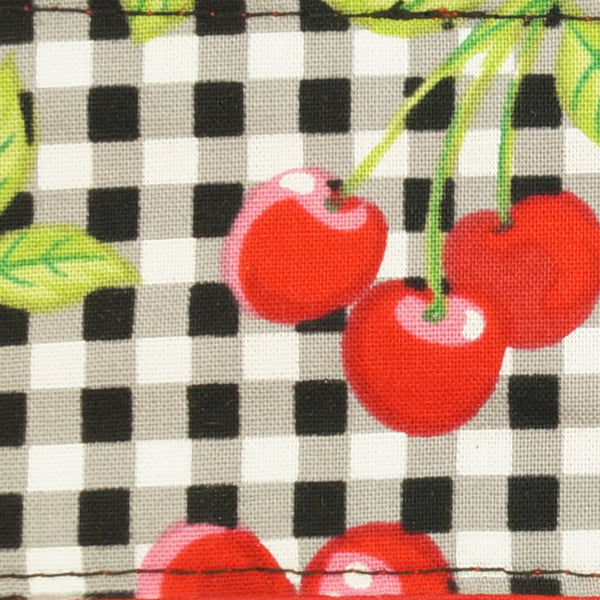 Gingham Cherries Hair Tie by Krampus Cuties : Cats Like Us