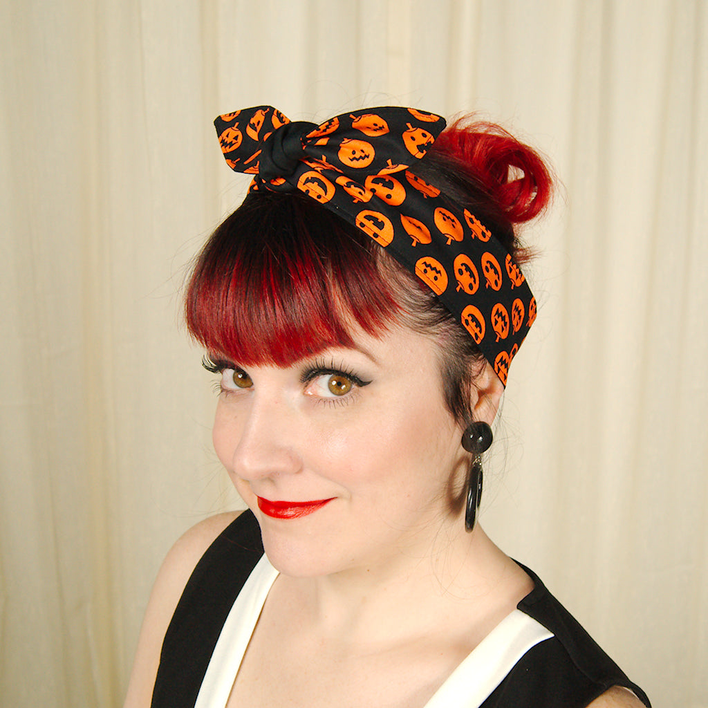 Jack-o-lantern Hair Tie by Krampus Cuties : Cats Like Us