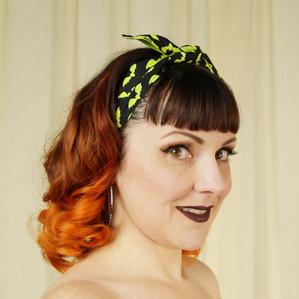 Lime Green Bats Hair Tie by Krampus Cuties : Cats Like Us