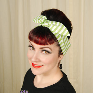 Lime Stripe Hair Tie - Cats Like Us