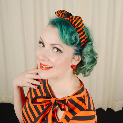 Orange Creepy Stripe Hair Tie