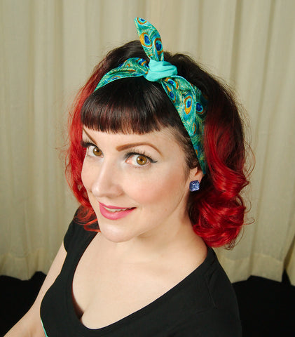 Peacock Feathers Hair Tie by Krampus Cuties : Cats Like Us