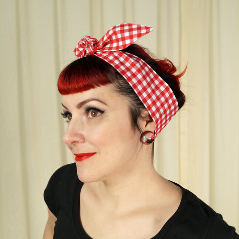 Picnic Gingham Hair Tie - Cats Like Us
