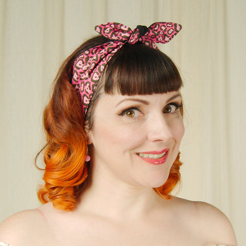Pink Cheetah Hair Ties by Krampus Cuties : Cats Like Us