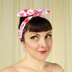 Pink Hearts Hair Tie by Krampus Cuties : Cats Like Us
