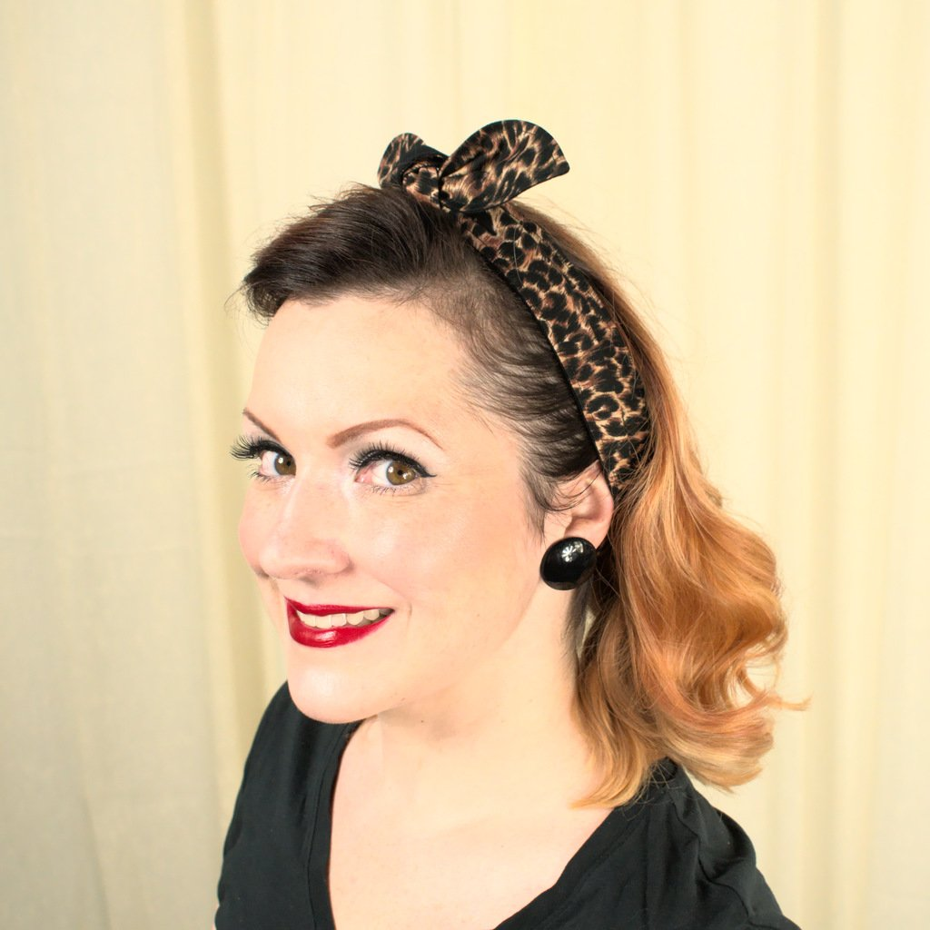 Pinup Leopard Print Hair Tie - Cats Like Us