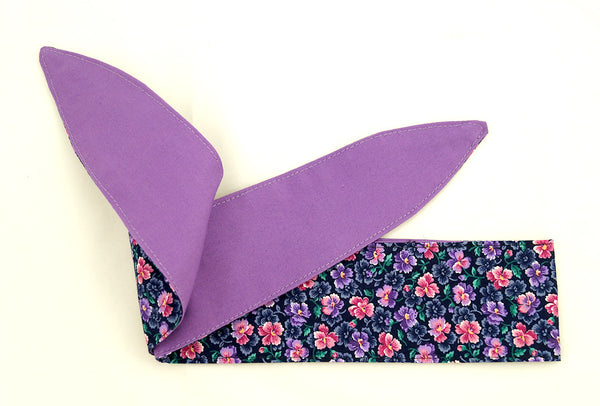 Purple Floral Hair Tie by Krampus Cuties : Cats Like Us