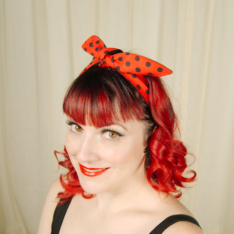 Red & Black Polka Dot Hair Tie by Krampus Cuties : Cats Like Us