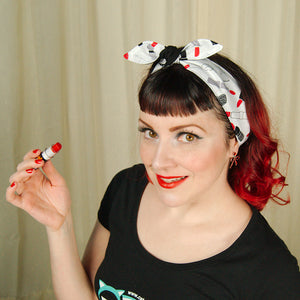 Red Lipstick Hair Tie by Krampus Cuties : Cats Like Us