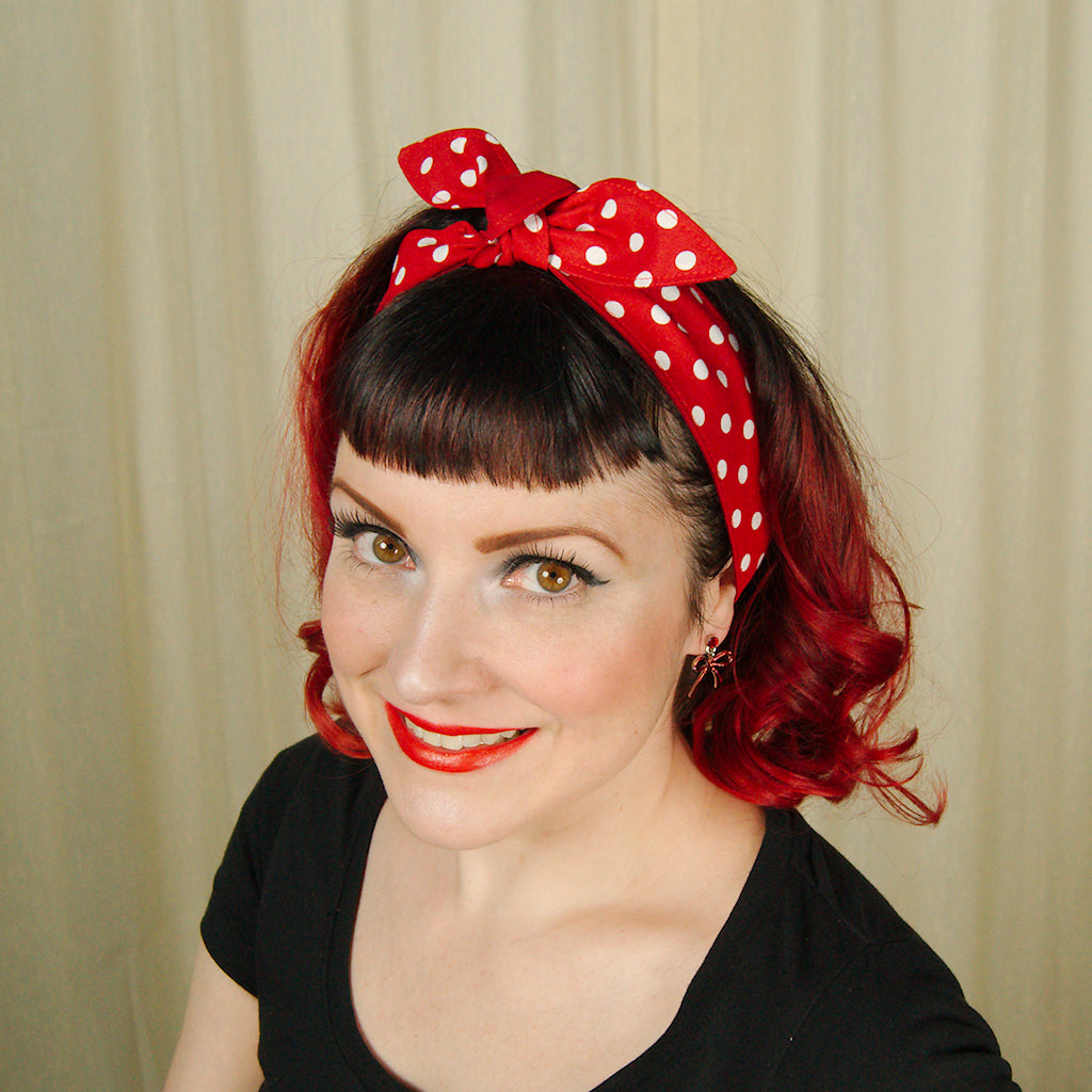 Rosie Polka Dot Hair Tie by Krampus Cuties : Cats Like Us
