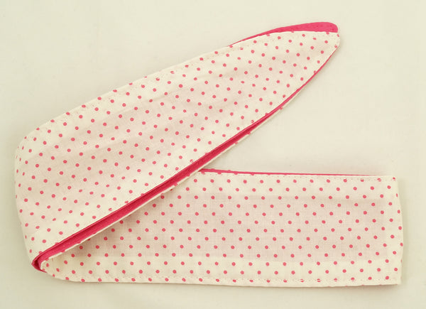Tiny Pink Polka Dots Hair Tie by Krampus Cuties : Cats Like Us