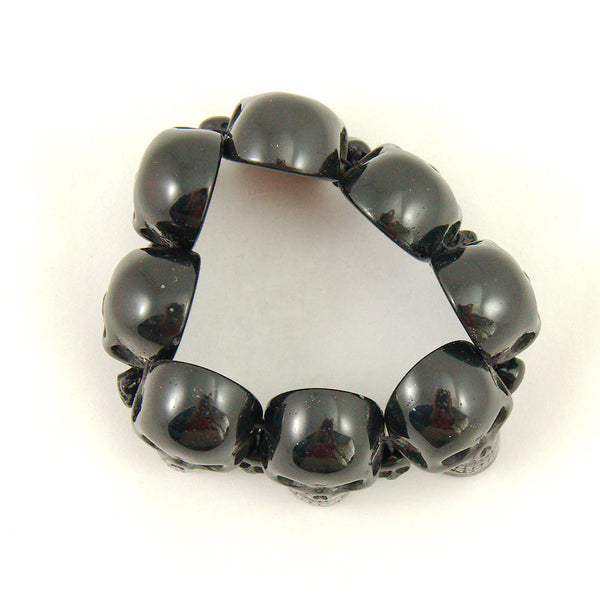 Black Skull Bracelet by Kreepsville 666 : Cats Like Us