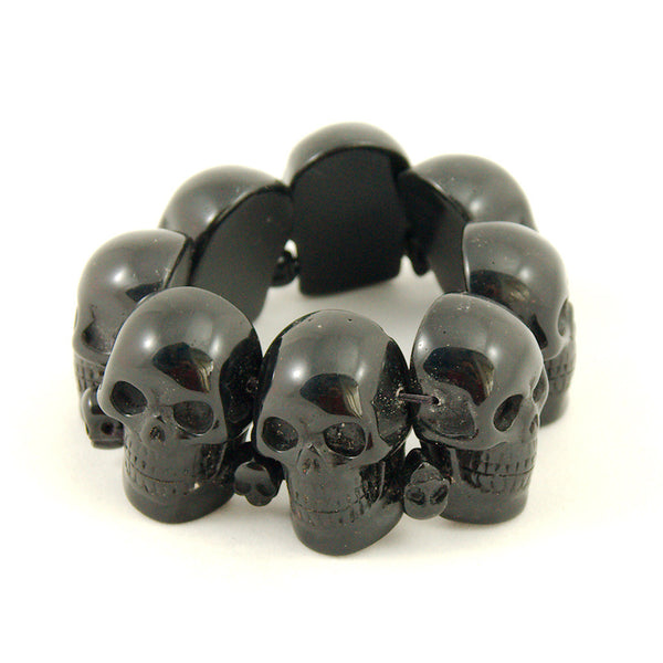 Black Skull Bracelet - Cats Like Us