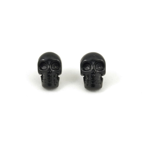 Black Skull Earrings by Kreepsville 666 : Cats Like Us