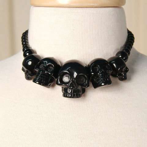 Black Skull Necklace - Cats Like Us