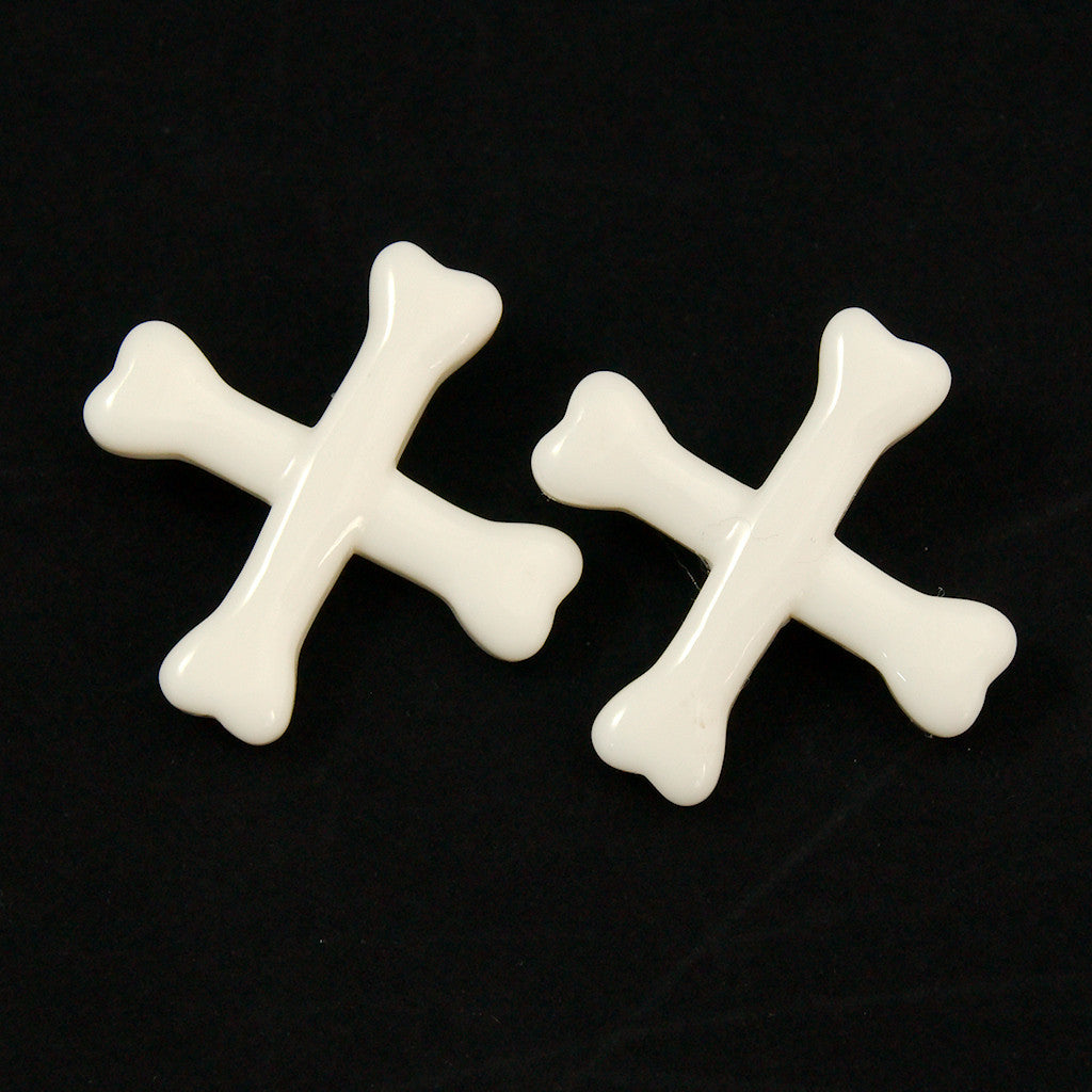 Crossbones Hair Clips by Kreepsville 666 : Cats Like Us