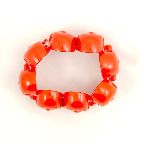 Kreepsville 666 Red Skull Bracelet for sale at Cats Like Us - 3