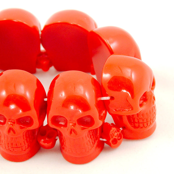 Kreepsville 666 Red Skull Bracelet for sale at Cats Like Us - 5