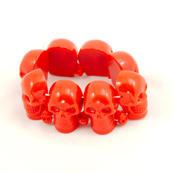 Kreepsville 666 Red Skull Bracelet for sale at Cats Like Us - 1