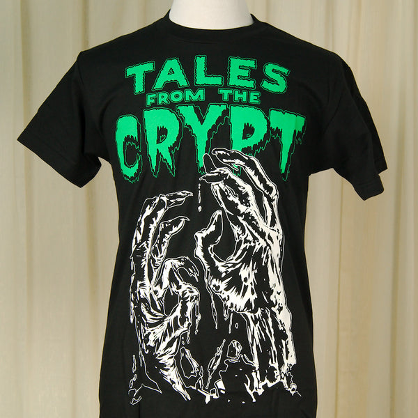 Tales From the Crypt Glowing T by Kreepsville 666 : Cats Like Us
