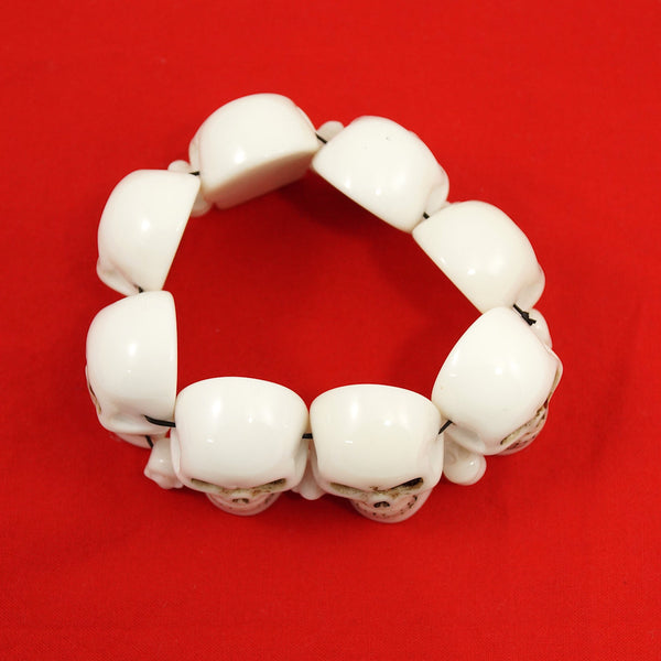 Kreepsville 666 White Skull Bracelet for sale at Cats Like Us - 2