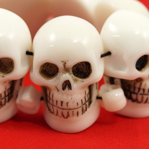 Kreepsville 666 White Skull Bracelet for sale at Cats Like Us - 4