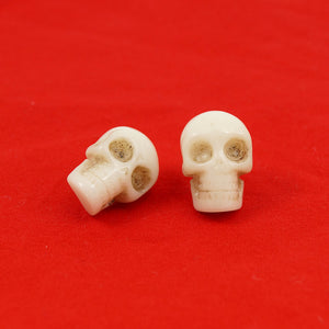 Kreepsville 666 White Skull Earrings for sale at Cats Like Us - 2