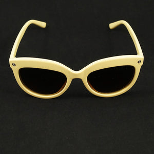 Beige Kattitude Sunglasses by LA Sunglasses - Cats Like Us