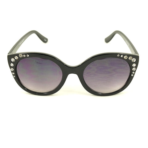 Black Bling Round Sunglasses by LA Sunglasses - Cats Like Us