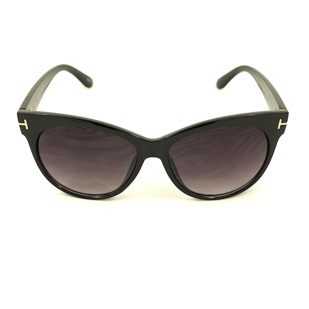 Black Catty Wayfarer Sunglasses by LA Sunglasses - Cats Like Us